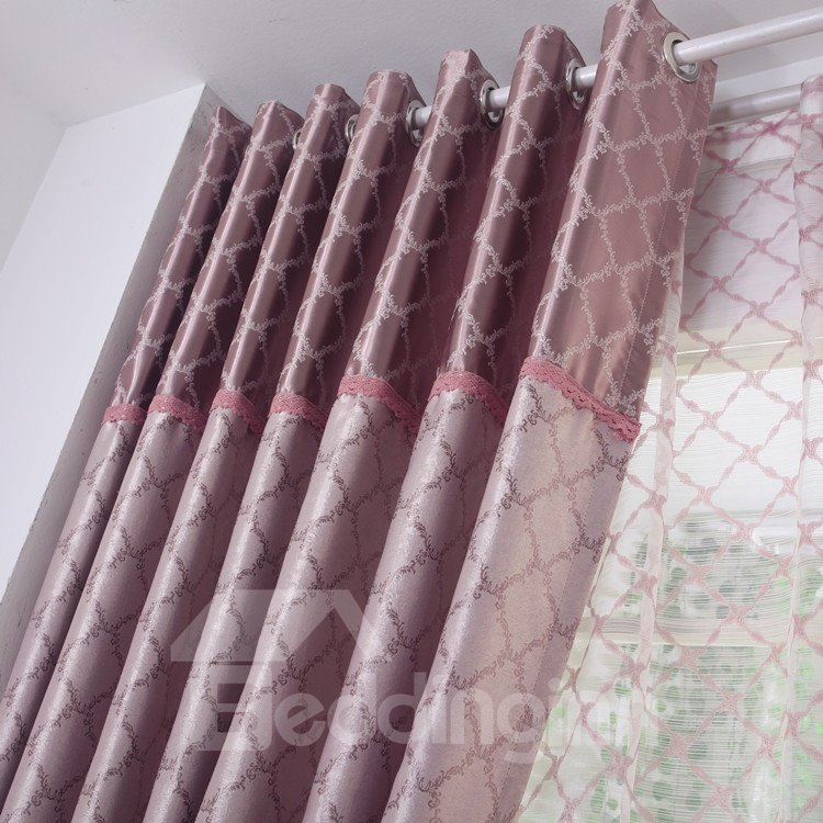 High Quality Luxurious Pretty Patterns Grommet Top Two-piece Custom Curtains