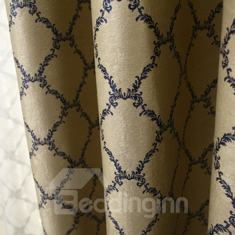 Beautiful Pattern Grommet Top Two Pieces Custom Curtain