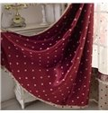 Charming Heart-shaped Patterns Grommet Top Two-piece Custom Curtains
