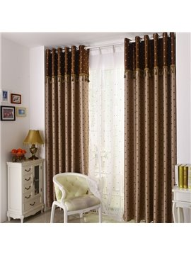 Retro Style Heart-shaped Patterns Grommet Top Two-piece Custom Curtains