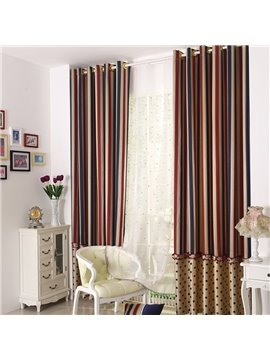 European Style Pretty Dots Pattern Grommet Top Two-piece Custom Curtains