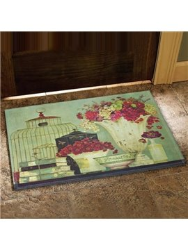 European Style Beautiful Flower Vases Design Doormat
