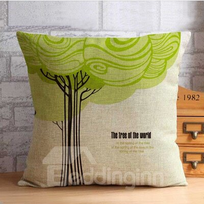 The Tree of  World Print Throw Pillow