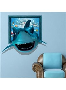 Gorgeous 3D Shark Pattern Home Decorative Wall Sticker