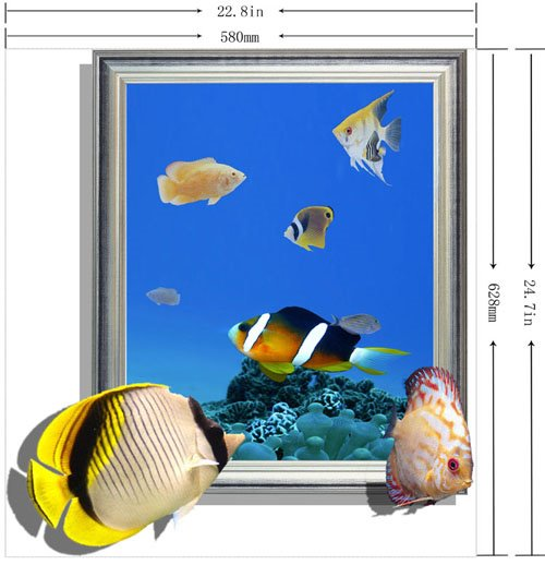 Elegant Creative 3D Underwater World Design Wall Sticker