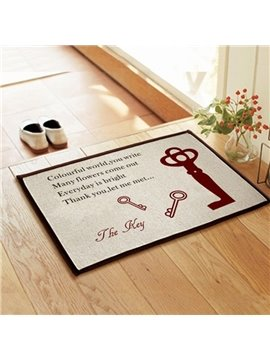 New Arrival Amazing Keys Pattern Non-slip Doormat