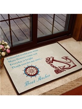 Hot Selling Elegant Boat Anchor Pattern Non-slip Doormat