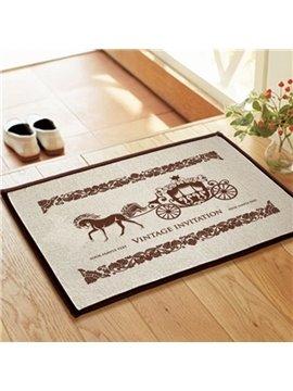 Elegant European Style Carriage Non-slip Doormat