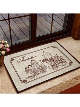 Gorgeous European Style Tea Sets Non-slip Doormat