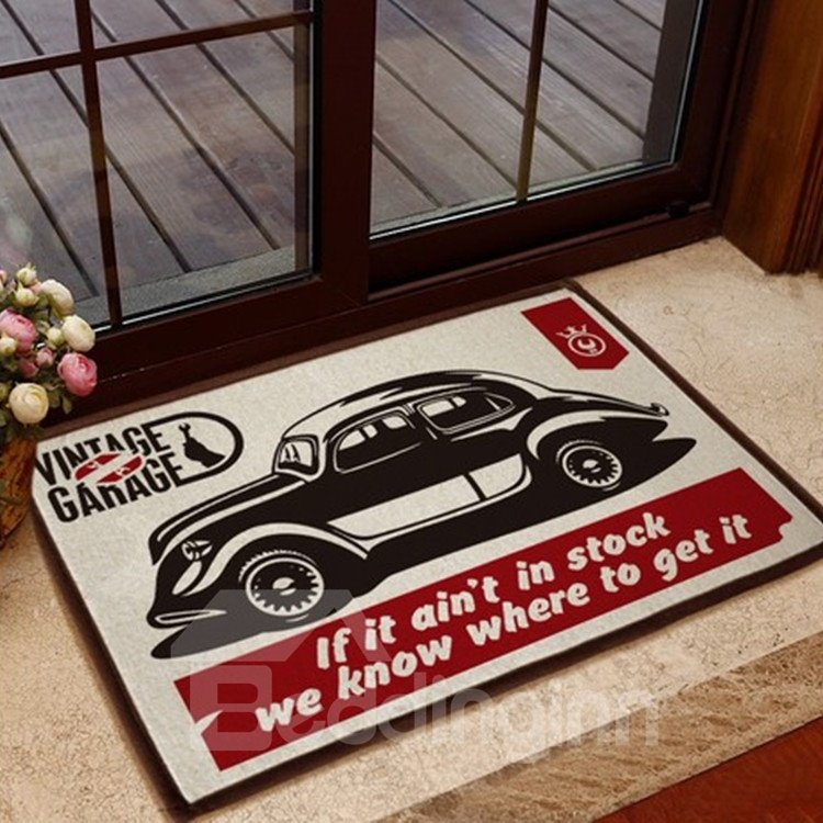 European Style Glamorous Car Pattern Non-slip Doormat