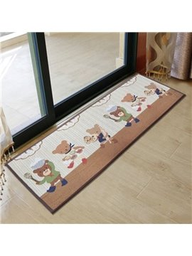 New Arrival Elegant Cartoon Chef Bear Pattern Non-slip Area Rug