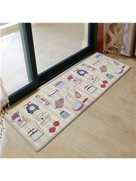 Fany Kitchen Ware Pattern Non-slip Area Rug