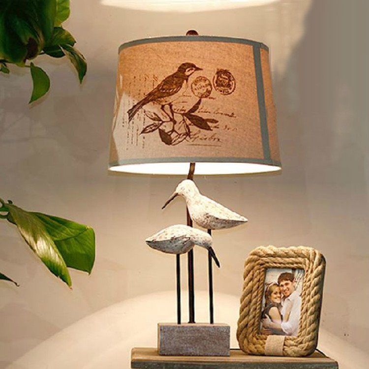 Elegant Country Style Creative Birds Design Table Lamp