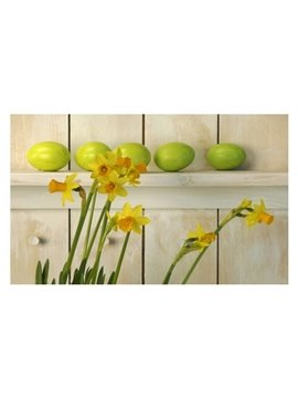 Amazing Pretty Flowers and Eggs Pattern Non-slip Doormat