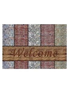 Gorgeous Welcome Word and Stones Pattern Non-slip Doormat