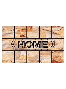 Pretty Home Word Pattern Non-slip Flocking Doormat