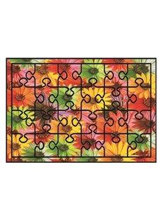 Super Beautiful Flowers Pattern Non-slip Flocking Doormat