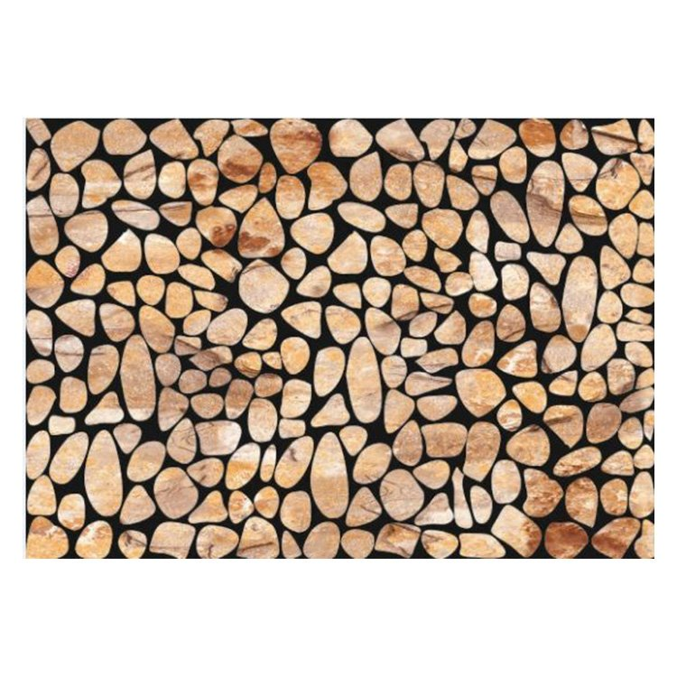 Simple Style Alluring Stones Pattern Non-slip Flocking Doormat