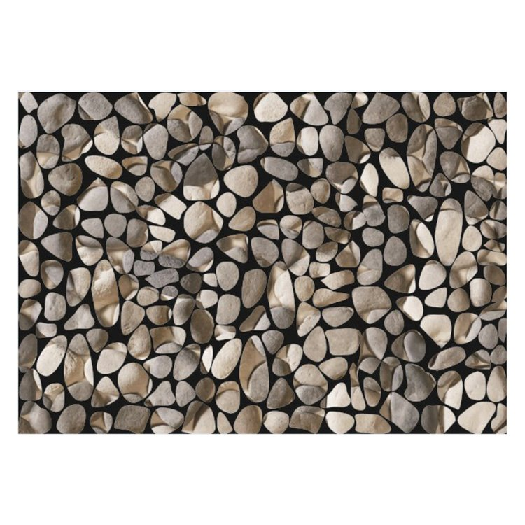 Simple Beautiful Stones Pattern Non-slip Flocking Doormat