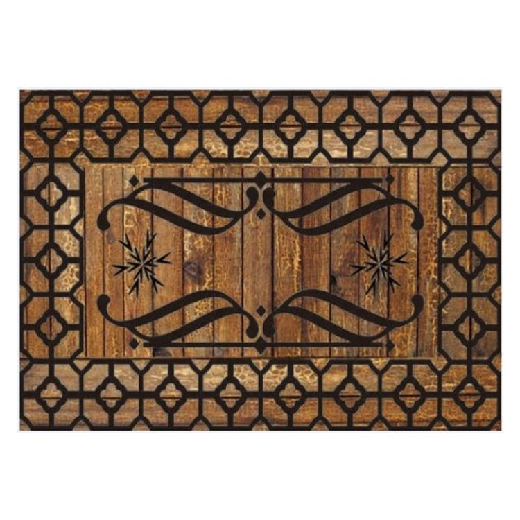 Retro Beautiful Pattern Non-slip Flocking Doormat
