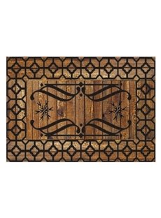 Retro Beautiful Pattern Non-slip Flocking Doormat