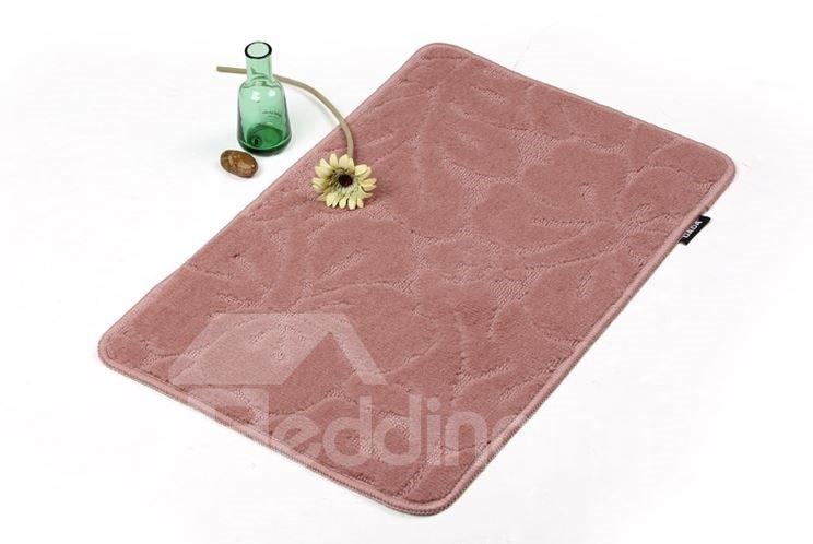Elegant Floral Patterns Pure Color Non-slip Suede Doormat