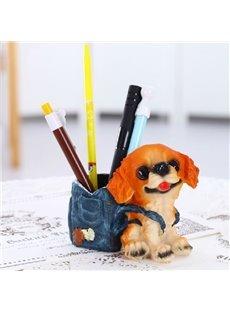 Super Cute Creative Dog Design Resin Pen Holder