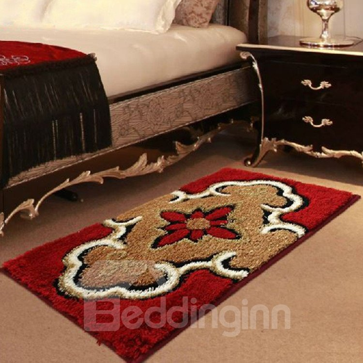 Elegant Floral Patterns Super Soft Water Absorption Non-slip Area Rug
