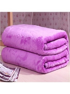 New Arrival Quality Jacquard Elegant Flower Flannel Blanket