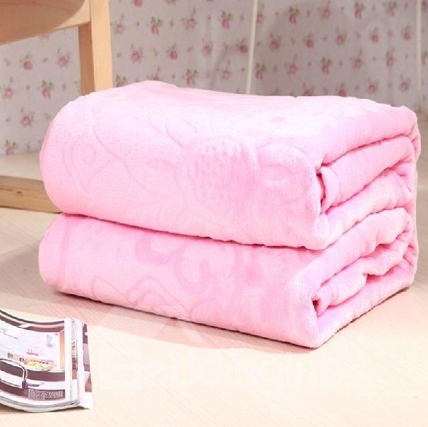 New Arrival Quality Jacquard Elegant Flower Flannel Blanket