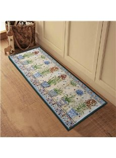 Amazing Flower Vases Pattern Anti-slip Kitchen Area Rug