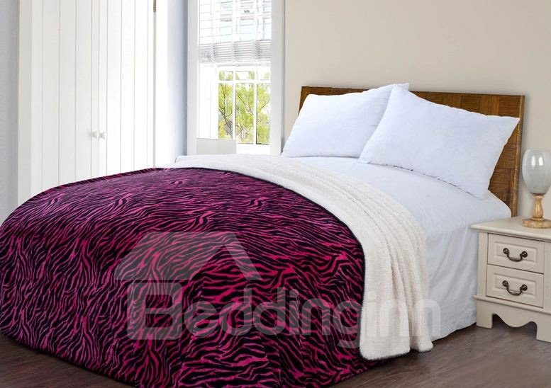 Quality High Grade Red Zebra Pattern Blanket
