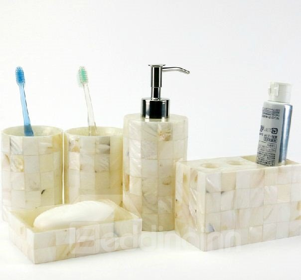 High Grade Stylish Conch Pattern Eco-friendly Resin Bathroom Accessory