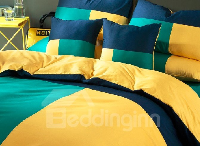 High Quality Concise Style 4-Piece Cotton Duvet Cover Sets