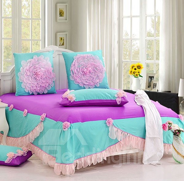 New Arrival Romantic cotton 6-piece bedding sets