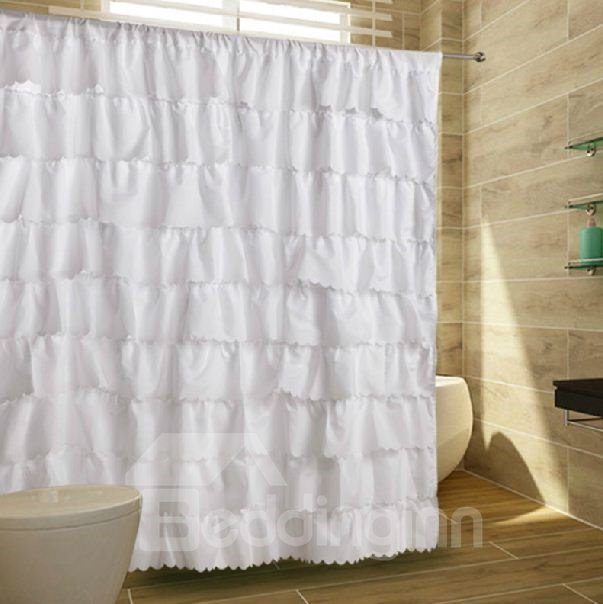 High Grade Elegant Lacey Pattern Shower Curtain