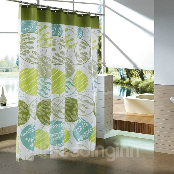 Contracted Design Polyester Waterproof Shower Curtain