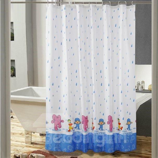 New Arrical Cartoon Print Polyester Shower Curtain