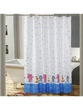 New Arrical Cartoon Print Polyester Shower Curtain