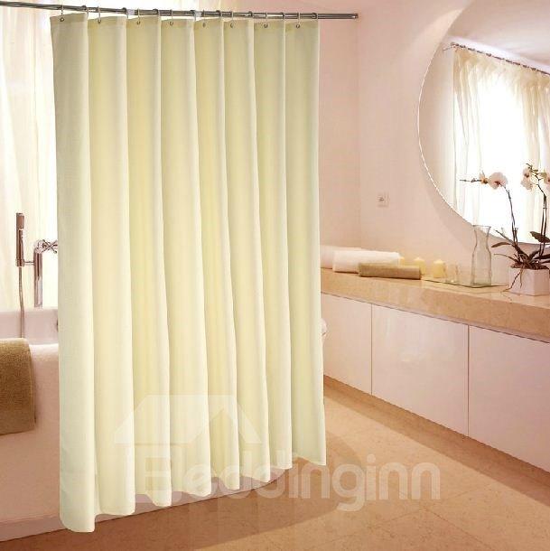High Grade Jacquard Beige Waterproof Shower Curtain