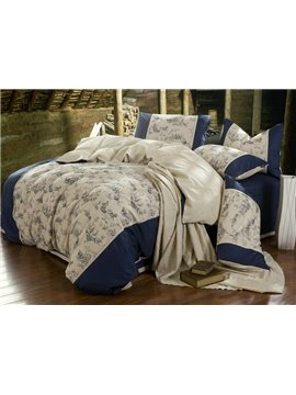 Hot Selling Fashionable British Hemp 4 Piece Bedding Sets