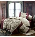Hot Selling Fashionable British Hemp 4 Piece Bedding Sets