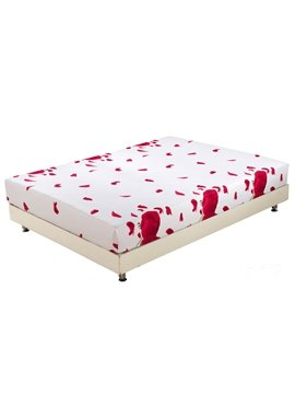 Quality Fragrant Red Roses Print 3D Fitted Sheet