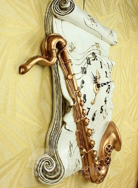 New Arrival Stunning Stylish Saxaphone Design Wall Clock