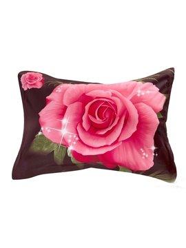 Quality Lifelike Vivid Flowers Print 3D Two-piece Pillowcases