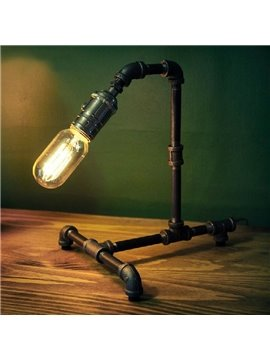 Stunning Retro Creative Water Pipe Design Table Lamp