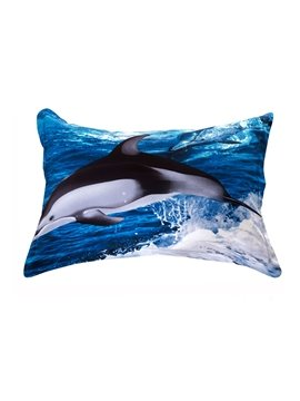 Quality Dolphin Flying over the Sea Print 3D Pillowcases