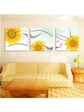 Amazing Yellow Sunflower Film Art Wall Prints