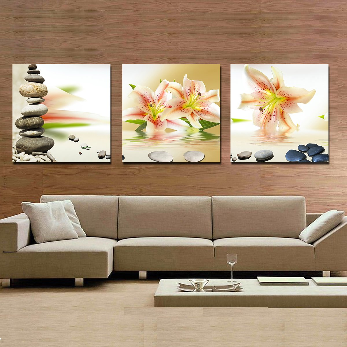 Fragrant Vivid Lily and Cobblestone Film Art Wall Prints
