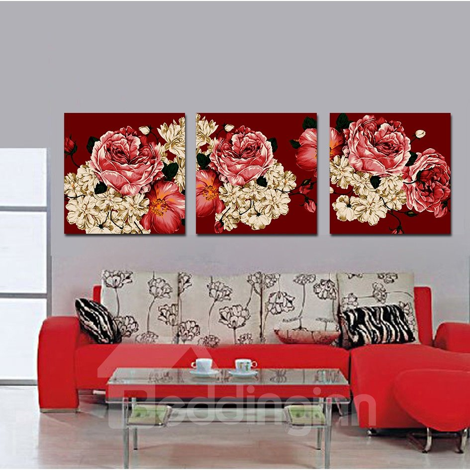 Red Flowers Film Art Wall Prints